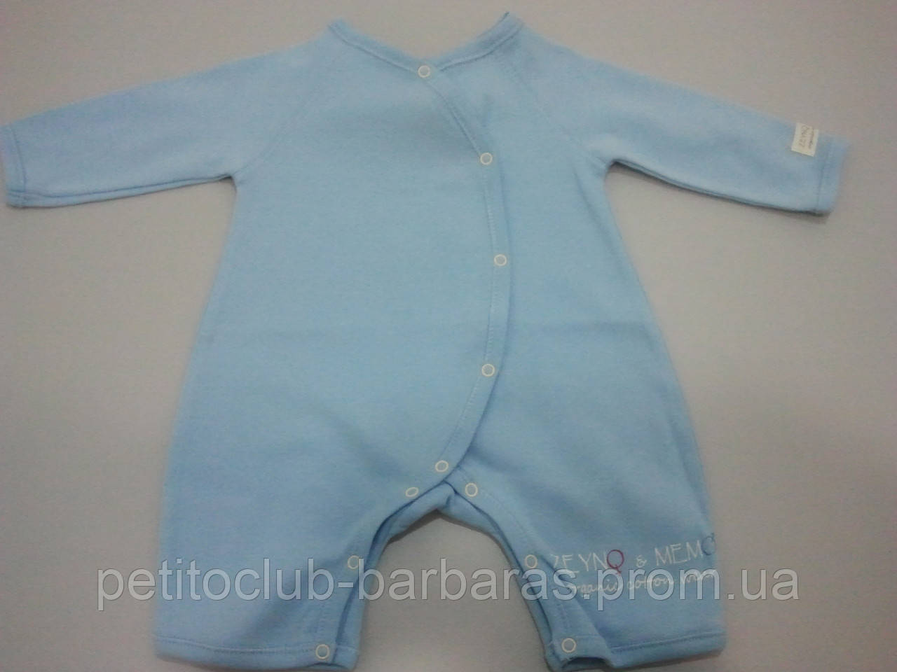 Комбинезон для младенца голубой (человечек с открытыми ножками)