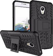 TOTO TPU+PC Shockproof case Tire Tread Meizu M3S Black