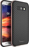 Ipaky TPU+PC Samsung A7 A720F 2017 Black/Rose Gold