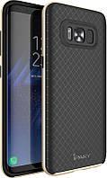 Ipaky TPU+PC bumper Samsung S8 Black/Gold