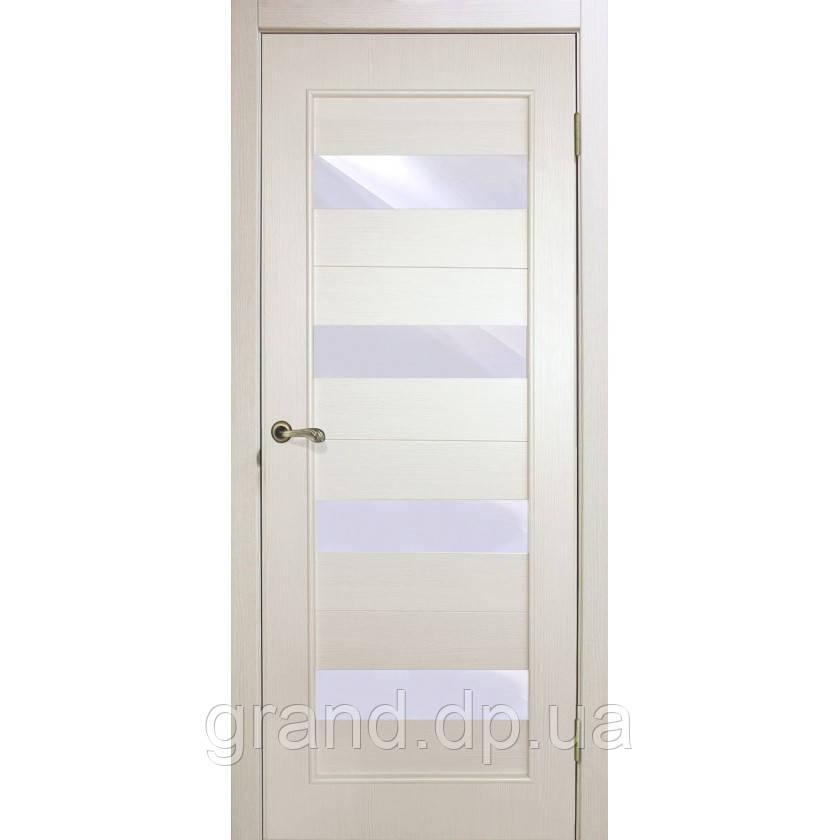 """Дверь межкомнатная """"Грация экошпон"""" остекленная, цвет сосна сицилия"""