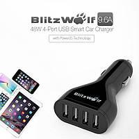 Blitzwolf BW-C1 зарядное устройство автомобильное от прикуривателя на 4 USB