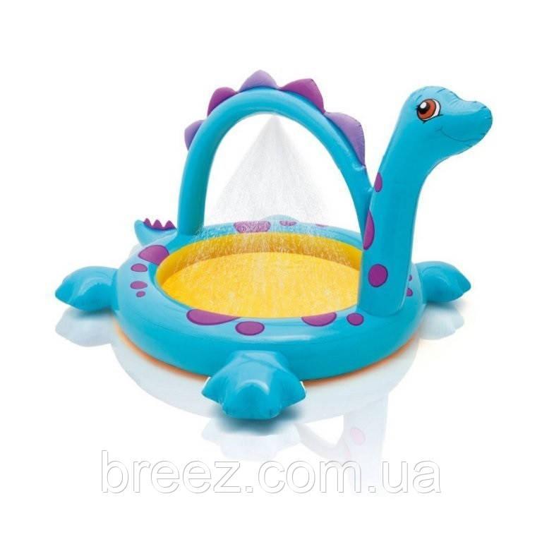 Детский надувной бассейн Intex 57437 Динозавр с фонтанчиком 230 х 165 х 117 см