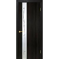 Двери межкомнатные Омис  Зеркало 1.1 экошпон глухая со вставкой зеркала, цвет венге