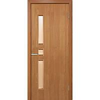 """Дверь межкомнатная остекленная """"Комфорт экошпон""""ольха"""