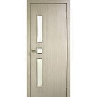 """Дверь межкомнатная """"Комфорт экошпон"""" остекленная, цвет  сосна карелия"""