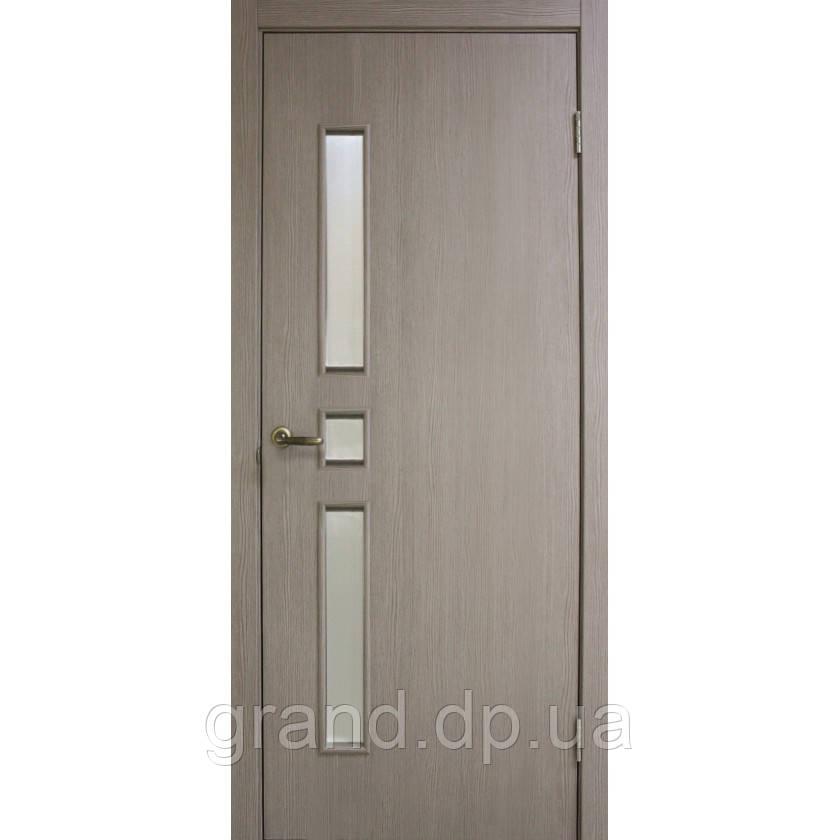 Двери межкомнатные Омис Комфорт экошпон остекленная, цвет сосна мадейра