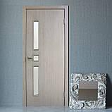 Двери межкомнатные Омис Комфорт экошпон остекленная, цвет сосна мадейра, фото 2