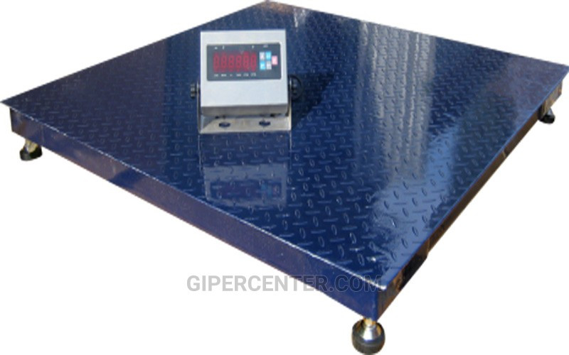 Платформенные напольные весы ЗЕВС-Премиум ВПЕ-4 1500х1500мм, НПВ: 5000 кг