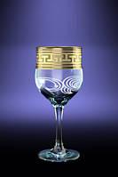 "Набор бокалов 260 мл для вина GE01-163 рисунок ""Греческий узор"" 6 шт"