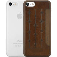 Чехол Ozaki O!coat 0.3+Pocket 2 in 1 для Apple iPhone 7 (OC722BC) Brown and Clear