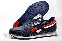 Мужские кроссовки Reebok Classic Leather, Dark Blue\Red, фото 3