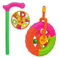 "Детская игрушка-каталка ""Колесо"" 3630 на палочке"