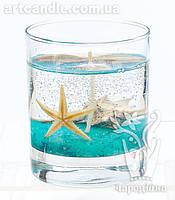 Гелевая свеча бирюзовое море