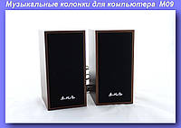 Музыкальные колонки для компьютера 2.0 M09, Колонки для ПК  M09