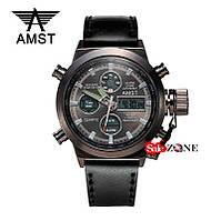 Гарантия! Подарок! Часы AMST 3003 / АМСТ 3003 черные
