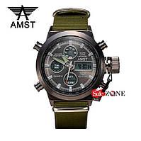 Гарантия! Подарок! Часы AMST 3003 / АМСТ 3003 зеленые