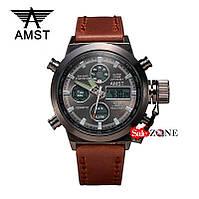 Гарантия! Подарок! Часы AMST 3003 / АМСТ 3003 коричневые