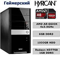 Геймерский ПК - 4х3.9GHz /6GB DDR3 /1000GB HDD /Radeon HD7750 1GB DDR5