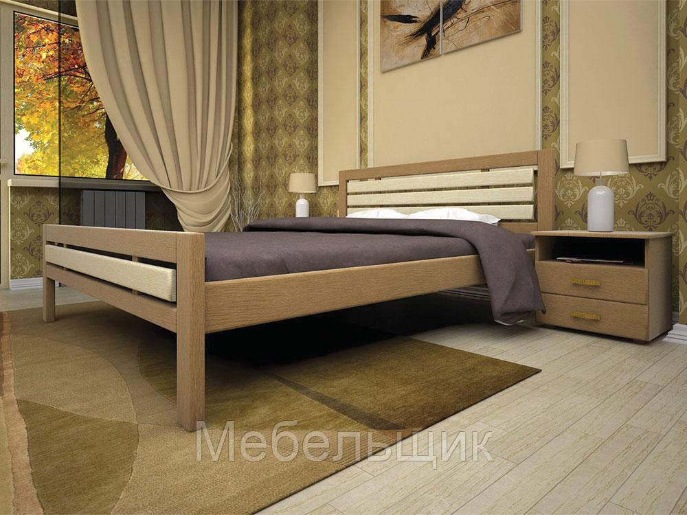 """Кровать """"Модерн 1"""" из натурального дерева"""