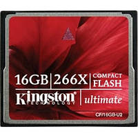 Карта памяти Kingston Compact Flash Ultimate 16GB 266x (CF/16GB-U2)