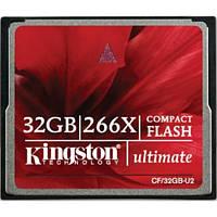 Карта памяти Kingston Compact Flash Ultimate 32GB 266x (CF/32GB-U2)