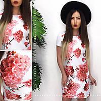 Стильное красивое свободное платье трапеция