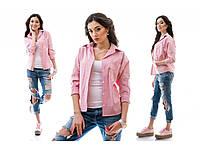 """Женская розовая рубашка """"Торнадо """" 12П12"""