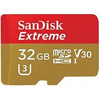 Карта памяти SanDisk Extreme microSDHC 32GB Class 10 UHS-I U3 (с адаптером) (SDSQXVF-032G-GN6MA)
