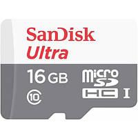 Карта памяти SanDisk Ultra microSDHC 16GB Class 10 UHS-I (без адаптера) (SDSQUNB-016G-GN3MN)