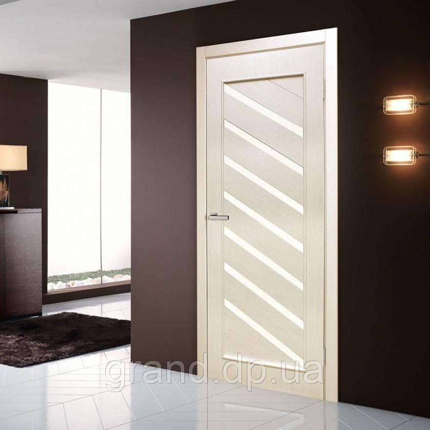 """Дверь межкомнатная """"Паула экошпон"""" остекленная, цвет сосна сицилия"""