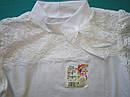 Школьная блуза с коротким рукавом из белой фуликры Размер 36, фото 5
