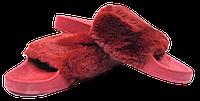 Шлепанцы женские мягкие SOPRА бордовые размеры 37-41.