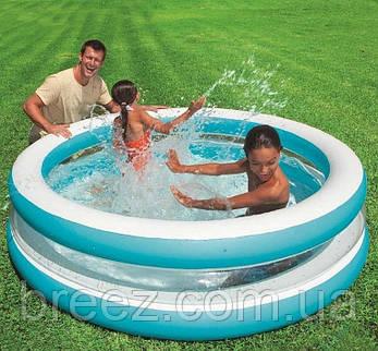 Детский надувной бассейн Intex 57489 Линза с прозрачными стенками 203 х 51 см, фото 2
