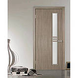 Двери межкомнатные Омис Нота экошпон остекленная, цвет сосна мадейра, фото 2