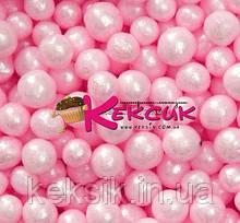 Цукрове Драже перлове рожеве 3 мм 50 гр