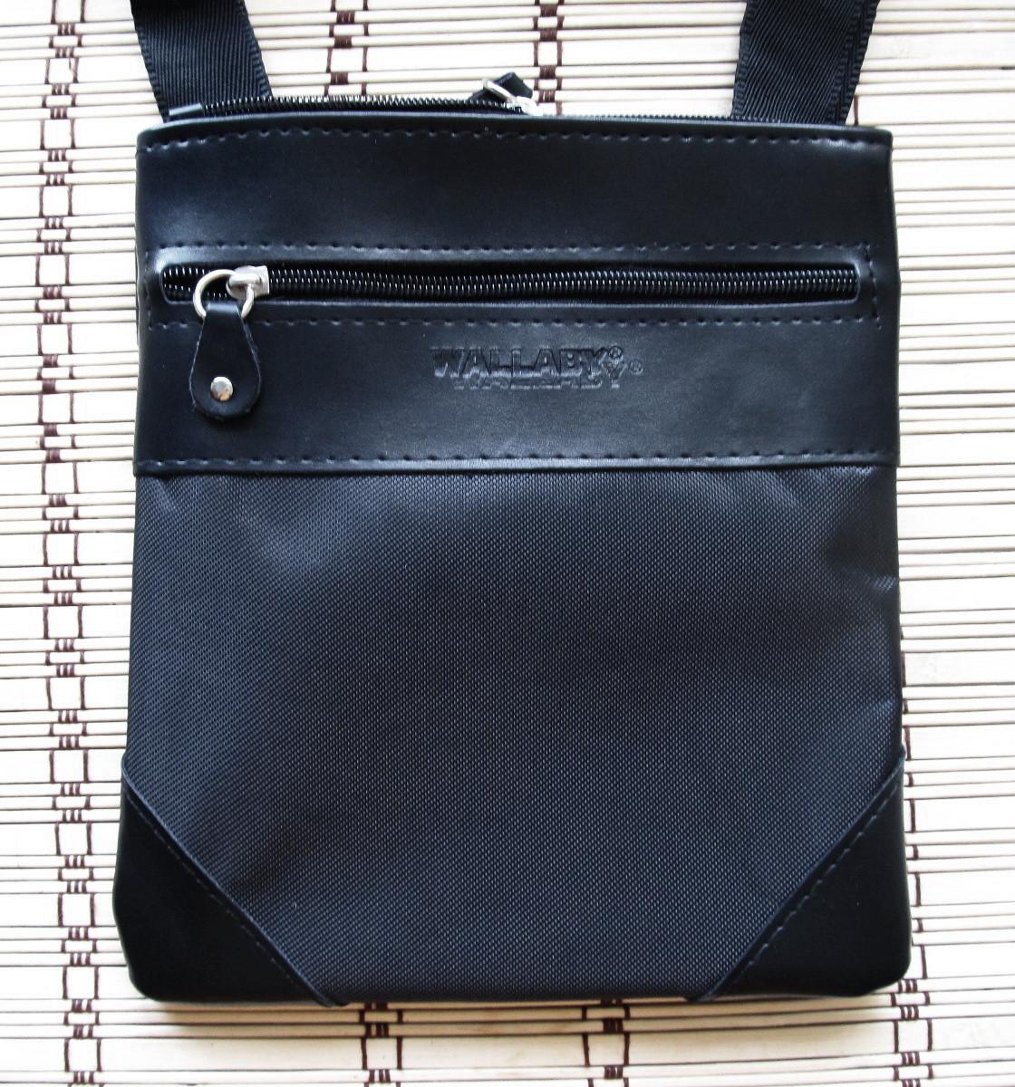 6ff40c5ea07c Мужская сумка Wallaby 264 черная барсетка через плечо Планшет 23х20см