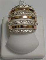 Кольцо из серебра и золота Пиано