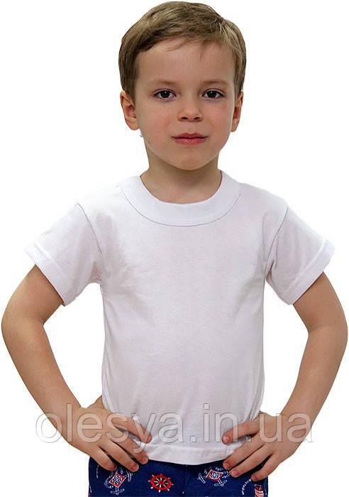 Школьная белая футболка на мальчика, девочку Хлопок Размер 36