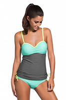 Купальник Grey Light Blue Tankini