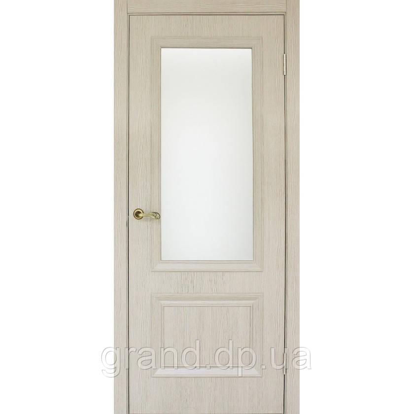 """Дверь  межкомнатная """"Флоренция 1.1 экошпон"""" остекленная,цвет сосна сцилия"""