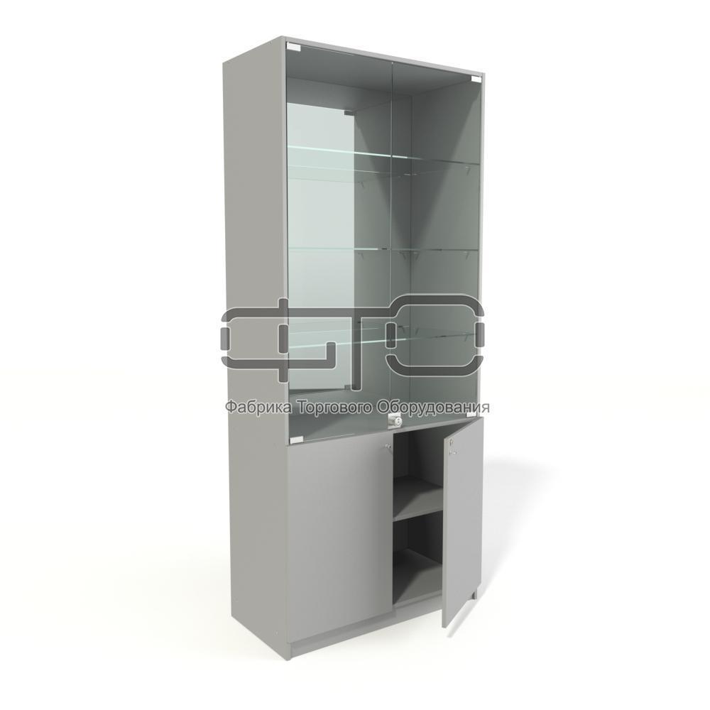 Витрина шкаф (задняя стенка зеркало)
