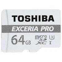 Карта памяти Toshiba microSDXC Exceria Pro 64GB Class 10 UHS-I U3 (с адаптером) (THN-M401S0640E2)
