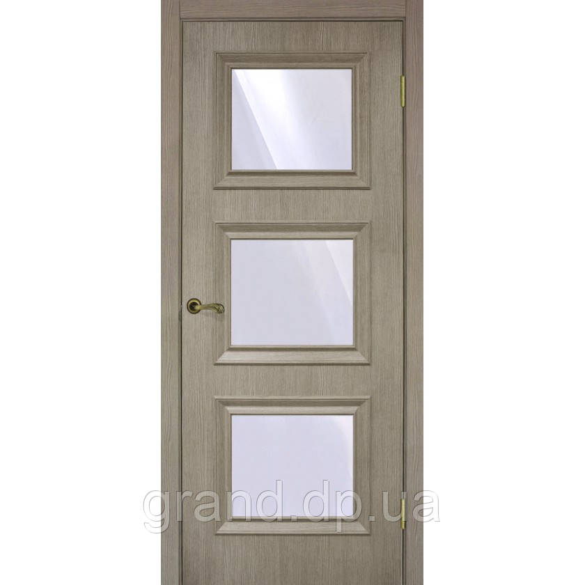 """Дверь межкомнатная""""Флоренция 1.3. экошпон"""" остекленная,цвет сосна мадейра"""