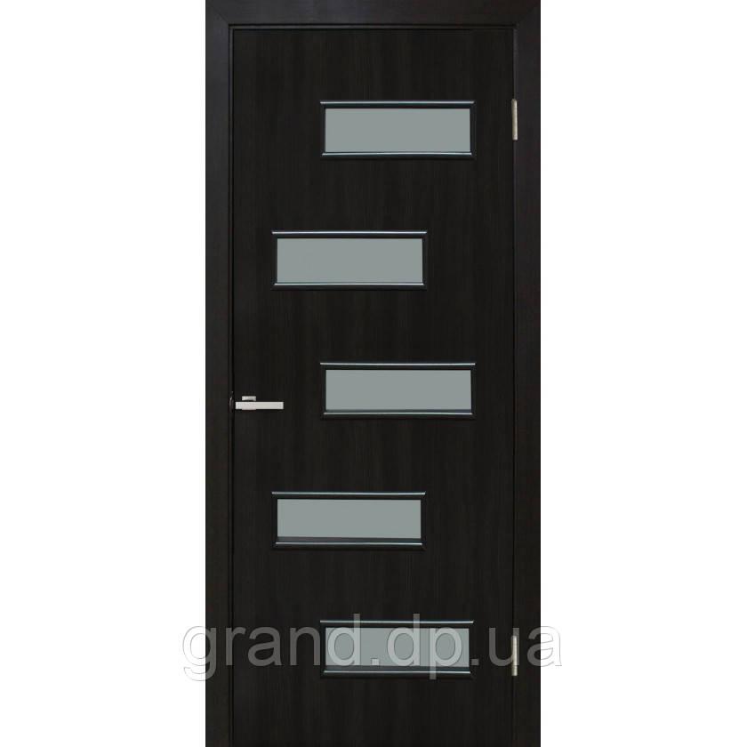 Двери межкомнатные Омис Этюд экошпон остекленная, цвет венге