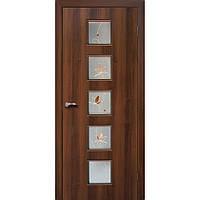 """Дверь межкомнатная """"Альта 5 экошпон"""" остекленная, цвет орех"""