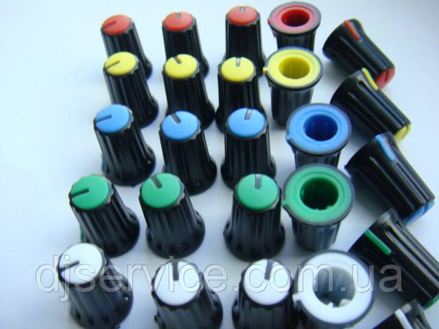 Ручка потенциометров 16.2x11.9 пульта Yamaha (цветная)