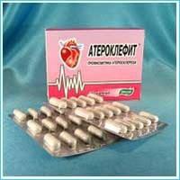 Атероклефит очищение сосудов от холестерина 30 капсул, купить, цена, отзывы, интернет-магазин