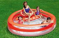 Детский надувной бассейн Bestway 54158 Коралл с сиденьем 232 х 223 х 63 см, фото 1