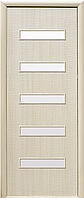 Сахара 5S (САТИН), Ясень (60, 70, 80, 90см). Коллекция Фортис DeLuxe. Межкомнатные двери МДФ Новый Стиль